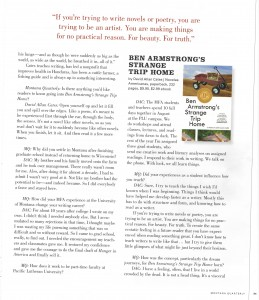 page two of Montana Quarterly Interview